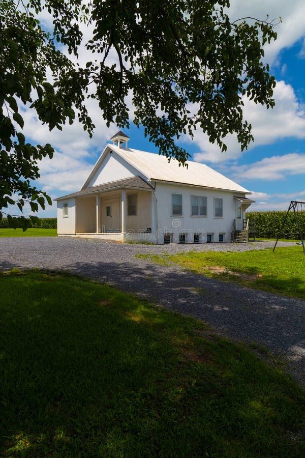Wiejski Jeden Izbowy Amish szkoły dom zdjęcie stock