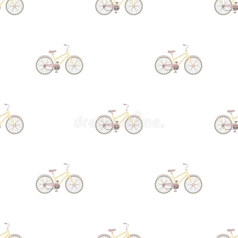 Wiejski kobiety ` s bicykl royalty ilustracja