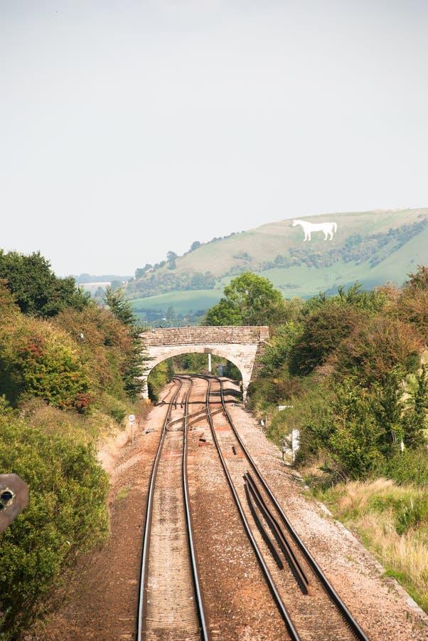 Wiejski Kolejowy ślad zdjęcie stock
