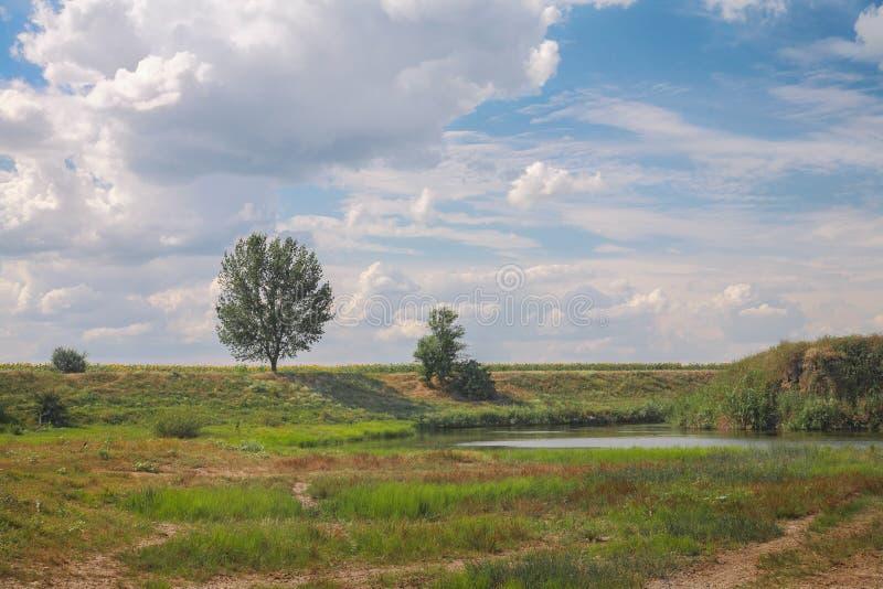 Wiejski krajobraz, rzeka fotografia stock