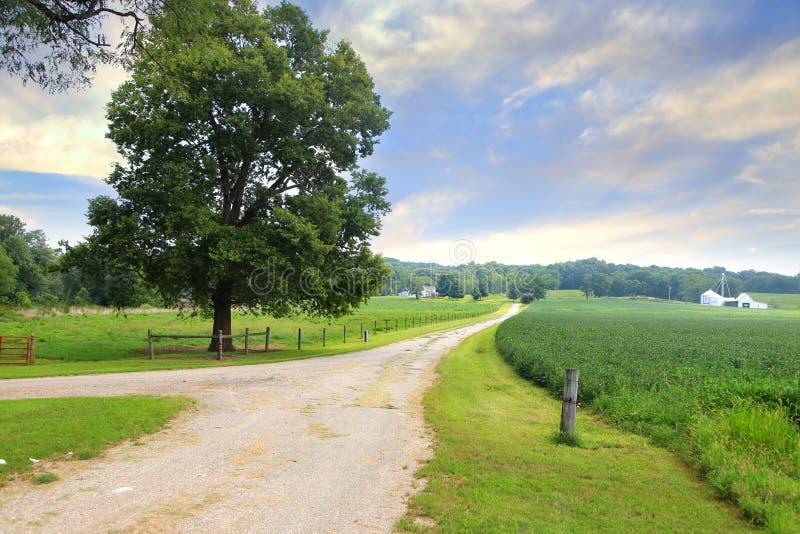 Wiejski krajobraz w Indiana zdjęcia royalty free