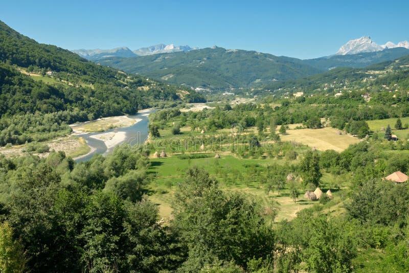 Wiejski krajobraz W Montenegro zdjęcie stock