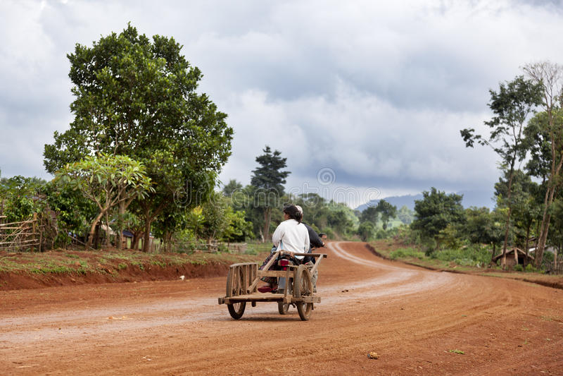 Wiejski Laos fotografia stock
