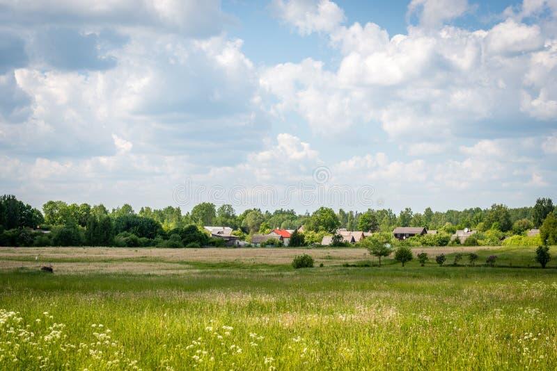 Wiejski Latvian krajobraz obraz stock