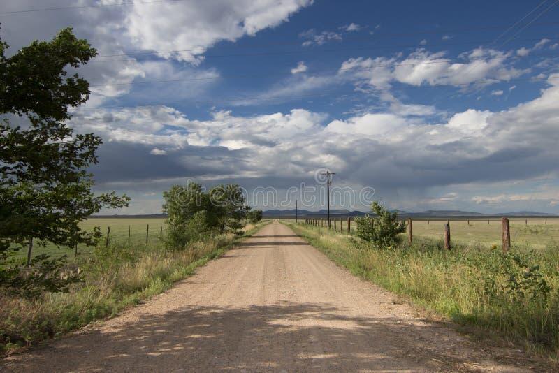 Wiejski Nowy - Mexico droga gruntowa zdjęcie royalty free