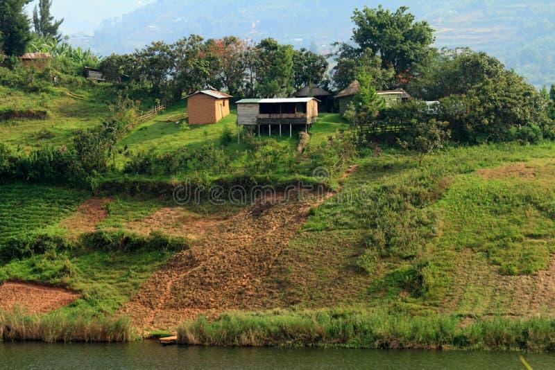 Wiejski Uprawiać ziemię w Uganda zdjęcia royalty free