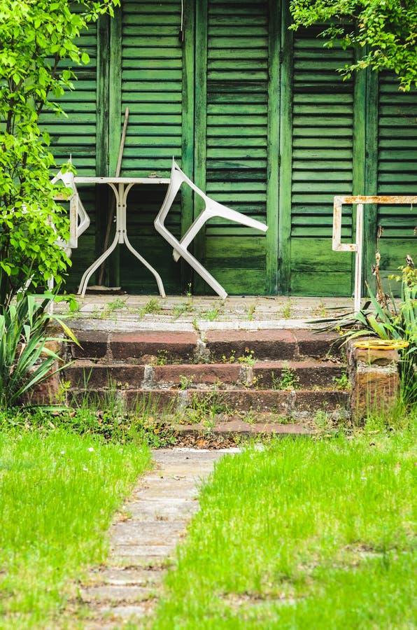 Wiejski wakacje domu ganeczek zdjęcie royalty free