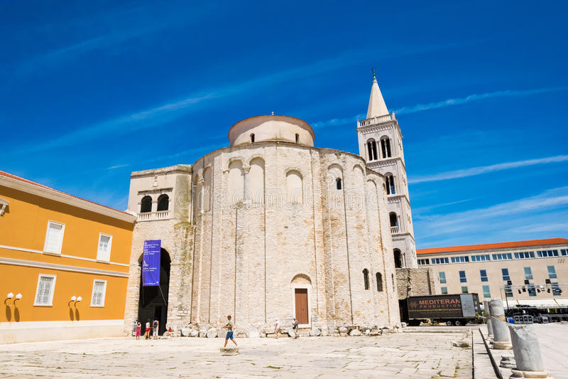 wiek budynku wieka kościelny Croatia Donat monumentalny st zadar obraz royalty free