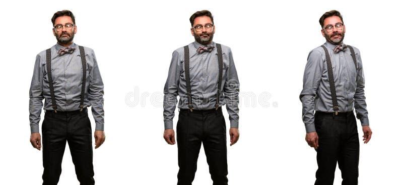 Wieka średniego mężczyzna jest ubranym kostium obraz stock
