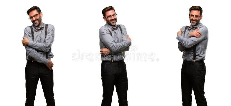 Wieka średniego mężczyzna jest ubranym kostium zdjęcia stock