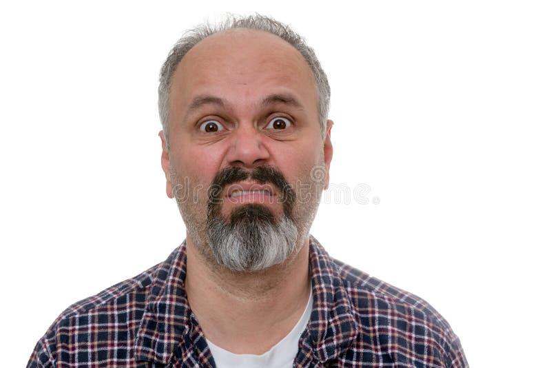 Wieka średniego mężczyzna z poniedziałek rano błękitami zdjęcia stock