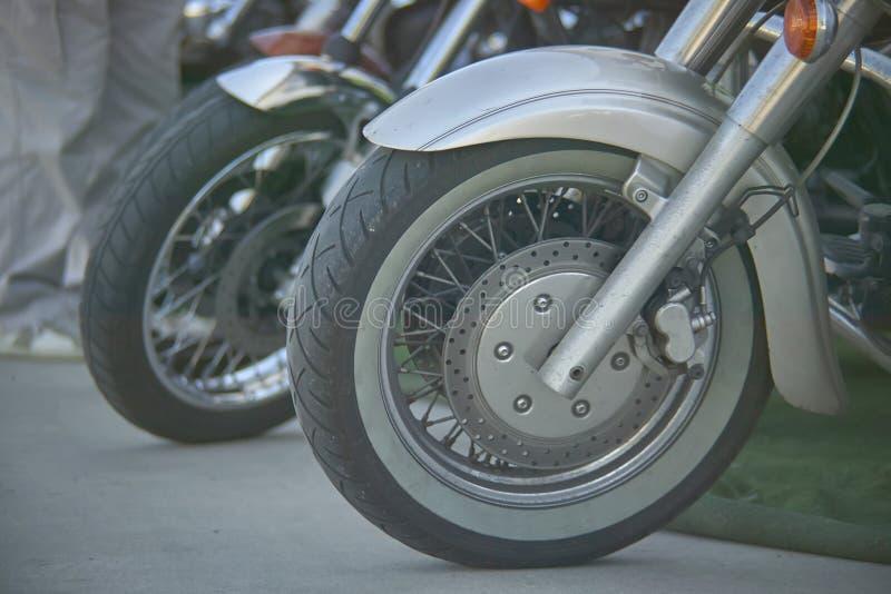 Wiel van de motorfiets stock afbeelding