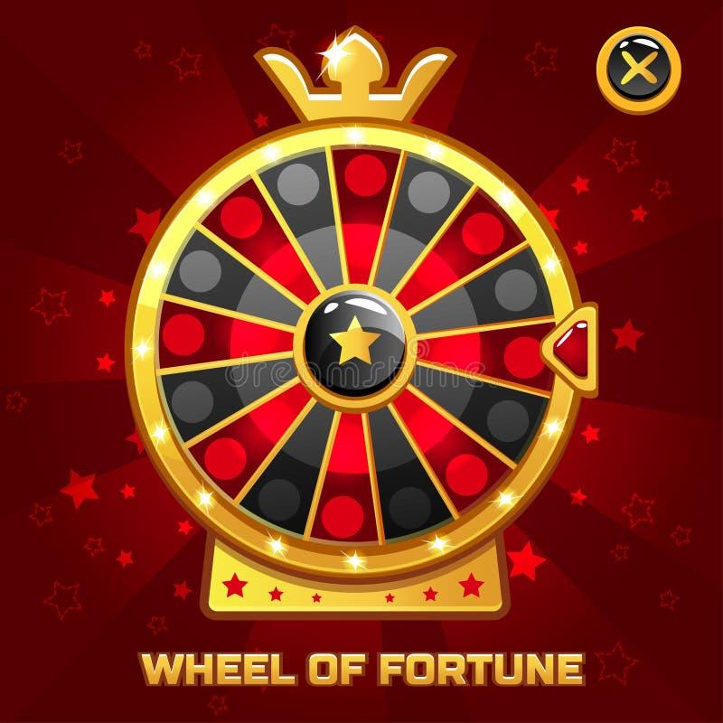 Wiel van Fortuin voor Ui-Spel royalty-vrije illustratie