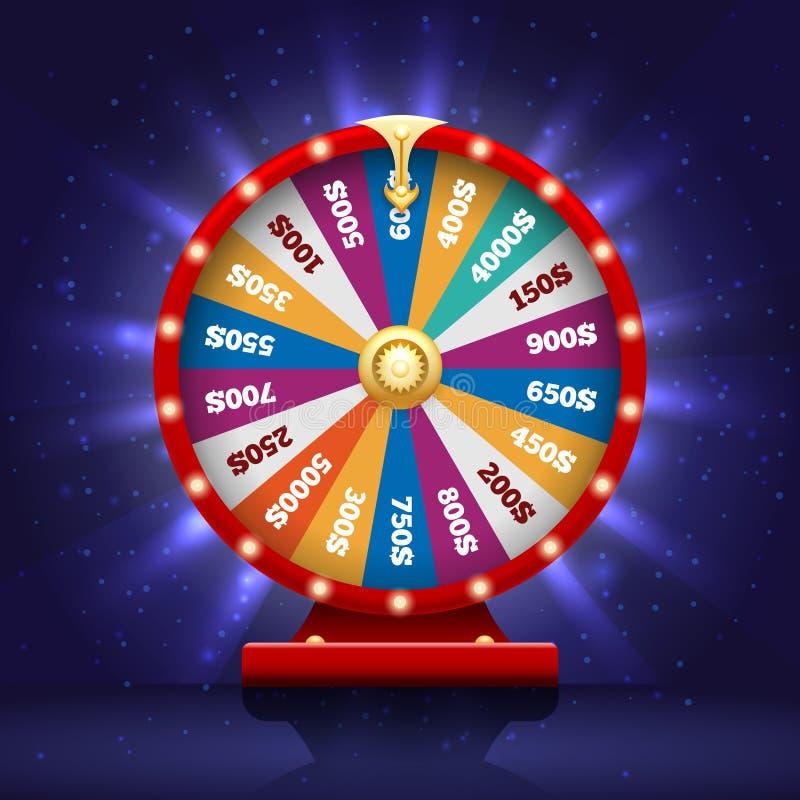 Wiel van fortunel voor loterijspel stock illustratie