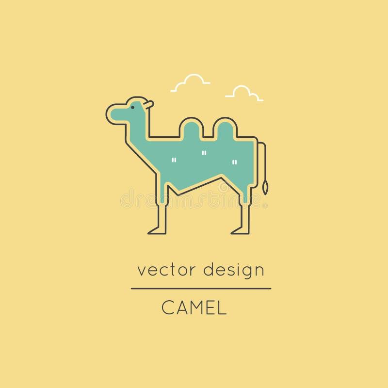Wielbłąd kreskowa ikona ilustracji