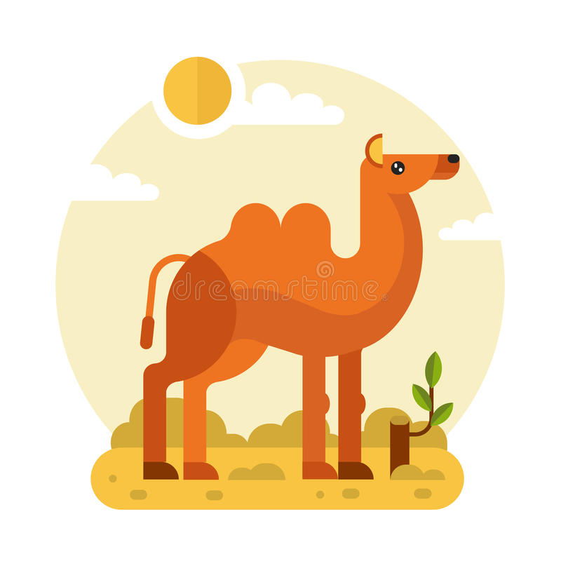 Wielbłąd w pustyni royalty ilustracja