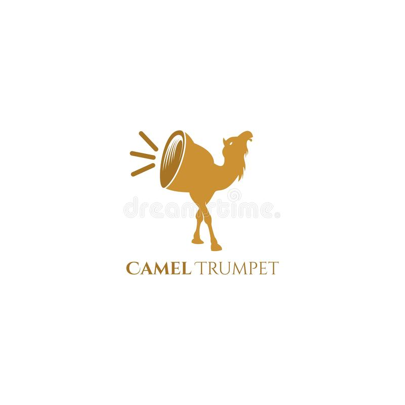 Wielbłąda tubowego logo wektorowy projekt royalty ilustracja