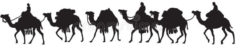 wielbłądy royalty ilustracja