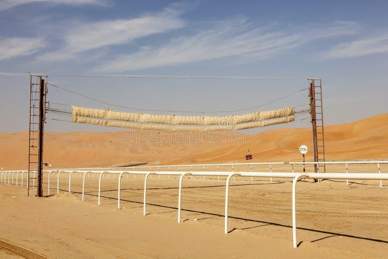 Wielbłądzi biegowy ślad w pustyni zdjęcia royalty free