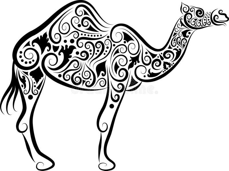 wielbłądzi ornament royalty ilustracja