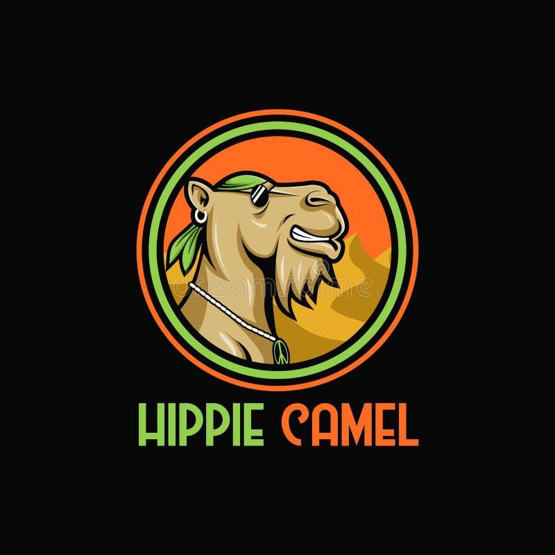 Wielbłądziej hipis maskotki projekta wektorowa ilustracja ilustracja wektor
