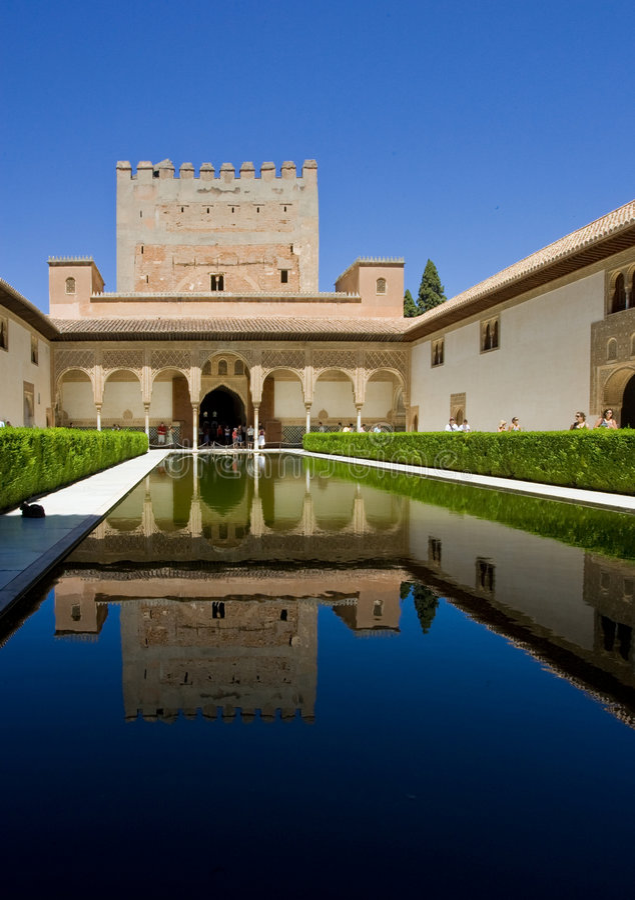 wielcy Alhambra odbicia obraz royalty free