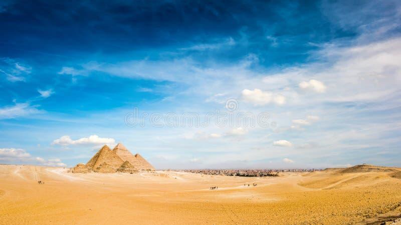 wielcy Egypt ostrosłupy Giza obrazy royalty free