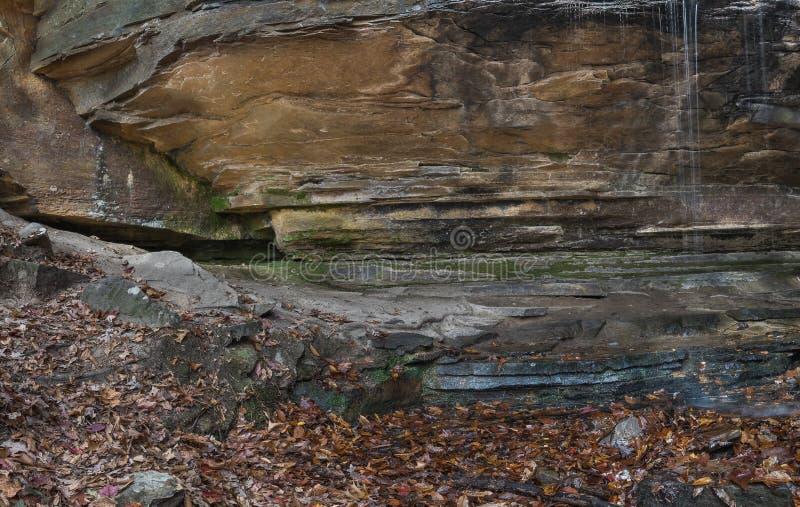 Wielcy głazy W Appalachian lesie fotografia stock