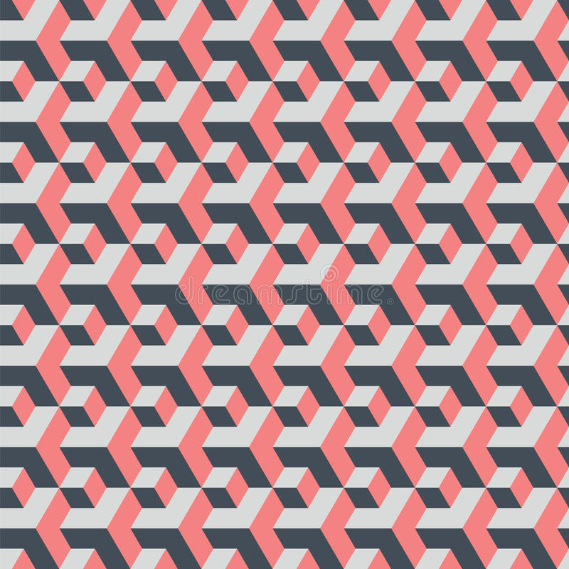 Wielcy i mali sześciany abstrakcjonistycznego tła geometryczny bezszwowy ilustracji