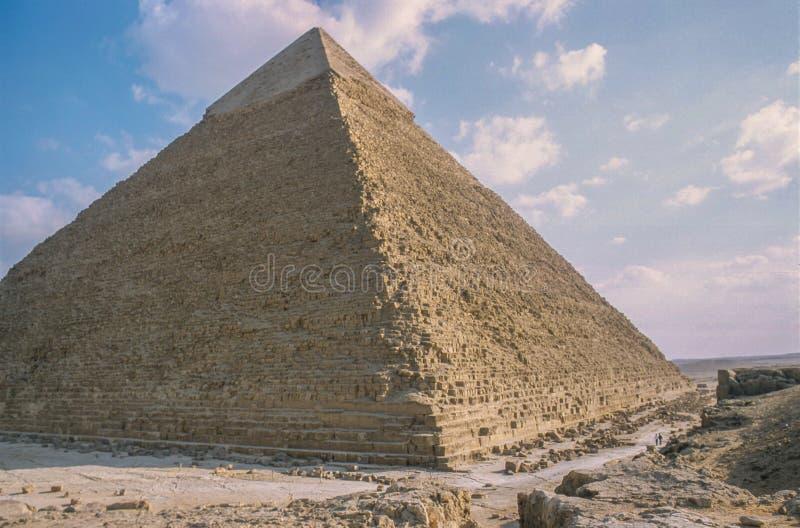 Wielcy ostrosłupy przy Giza zdjęcie royalty free