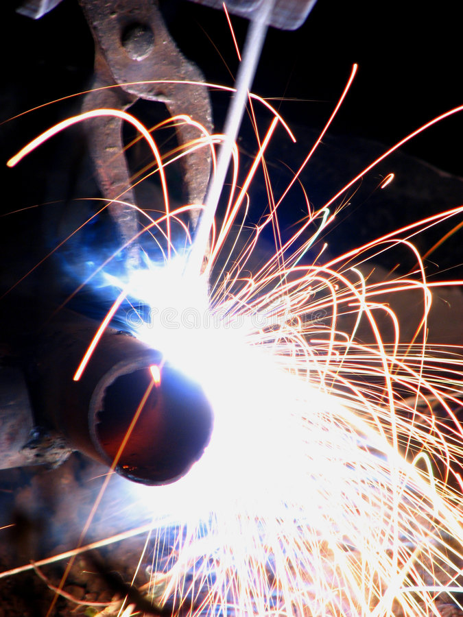 Wielding Sparks royalty free stock images