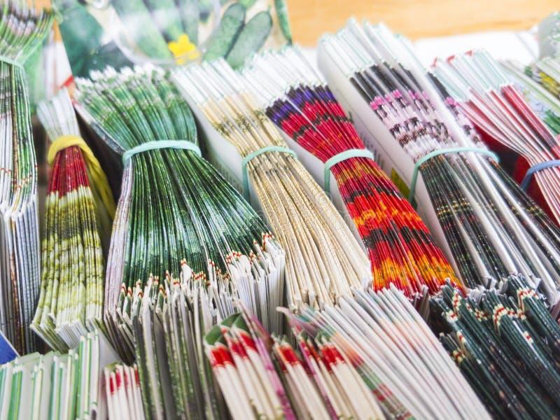 Wiele barwić torby dla przechować ziarna rośliny i warzywa fotografia stock