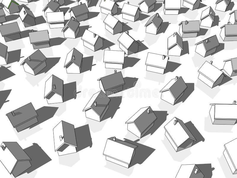 Wiele biel domy ilustracja wektor