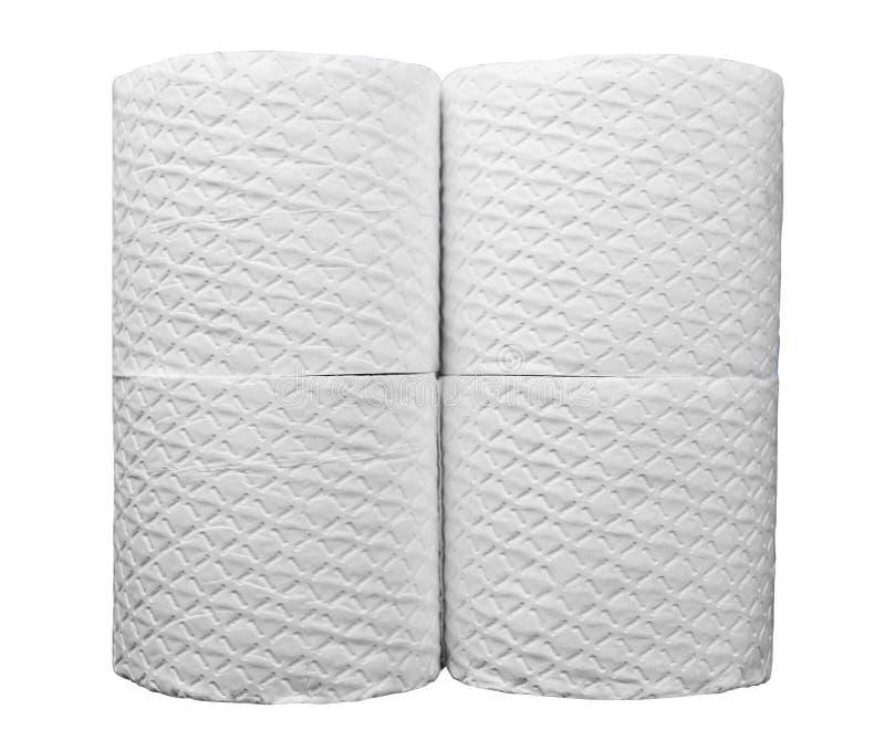 Wiele biel embossed rolki papier toaletowy zdjęcia royalty free