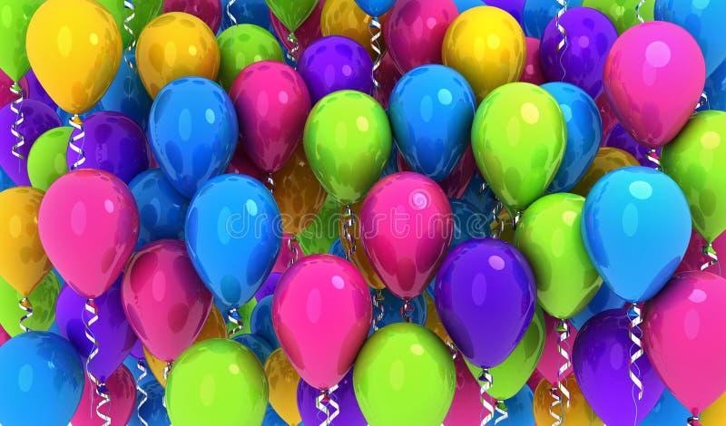 Wiele colours balony, tło zdjęcie stock