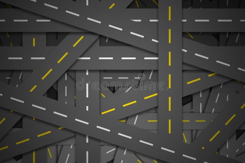 Wiele droga przez droga ilustracji