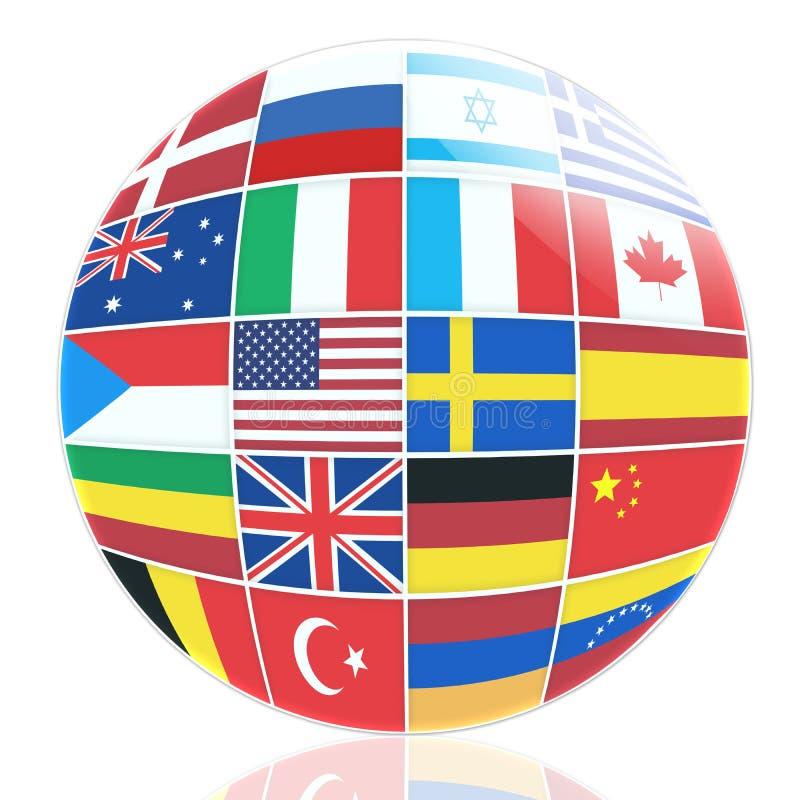 Wiele flaga różni kraje royalty ilustracja