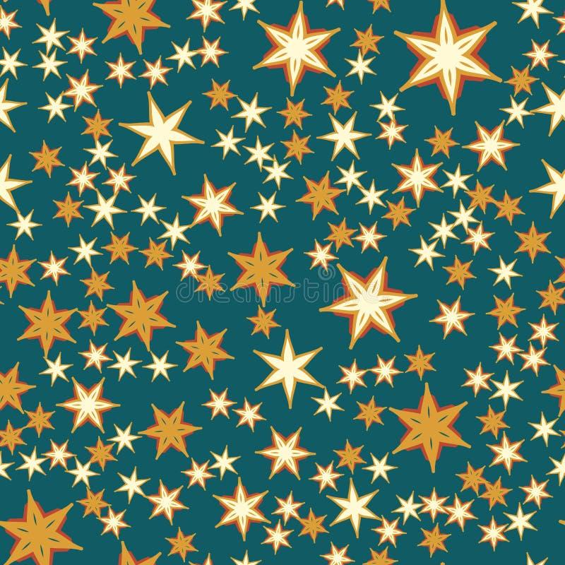Wiele gwiazd Bezszwowy druk ilustracja wektor