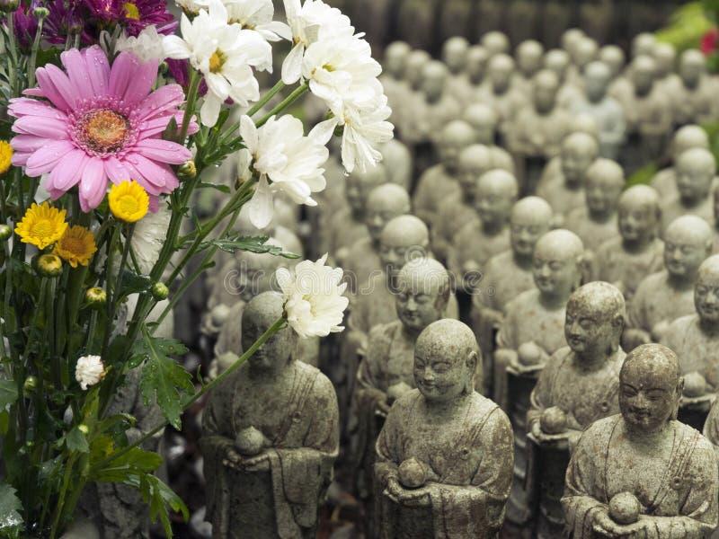 Wiele Jizos, Japonia fotografia royalty free