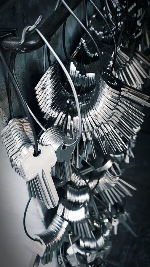 Wiele klucz używać dla kopiować klucze jest oszczędza klucz zdjęcie stock