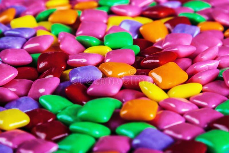 Wiele kolorów guma do żucia różny tło E zdjęcie royalty free