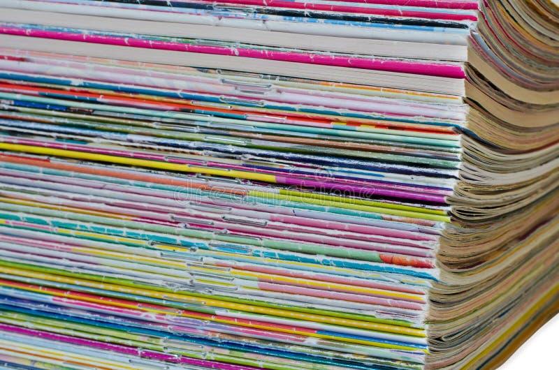 Wiele kolor starzy magazyny komiczki zdjęcie royalty free