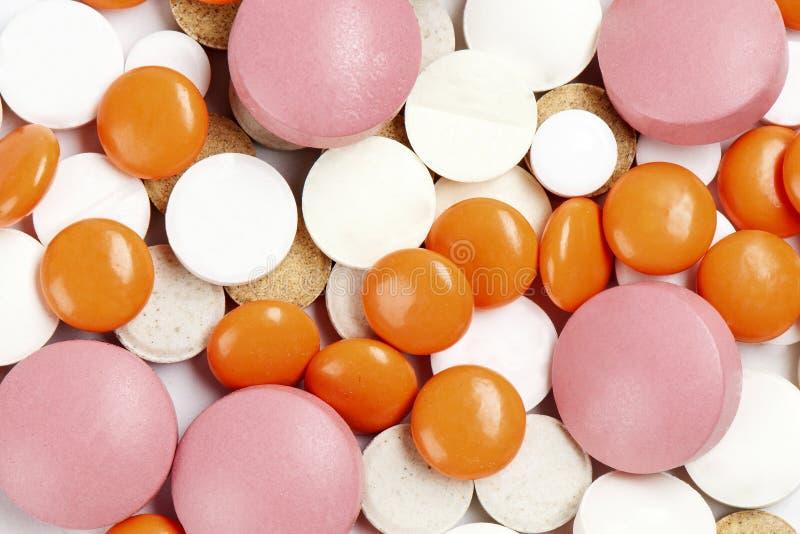 Wiele kolorowe medycyny tło lub tekstura obraz stock