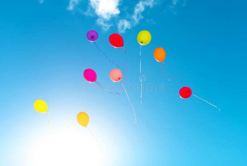 Wiele kolorowi baloons fotografia stock