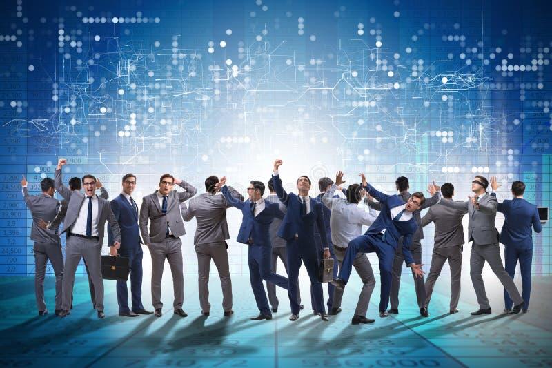 Wiele ludzie biznesu w współpracy pojęciu obrazy stock