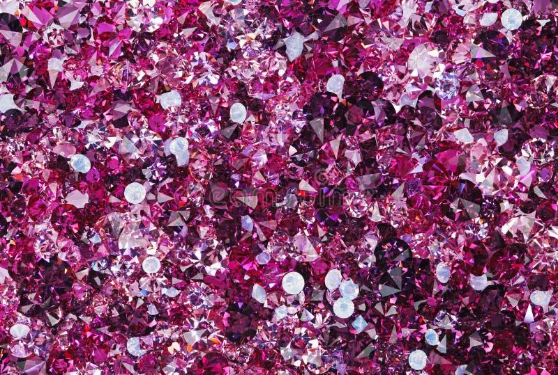 Wiele mali rubinowi diamentów kamienie fotografia stock
