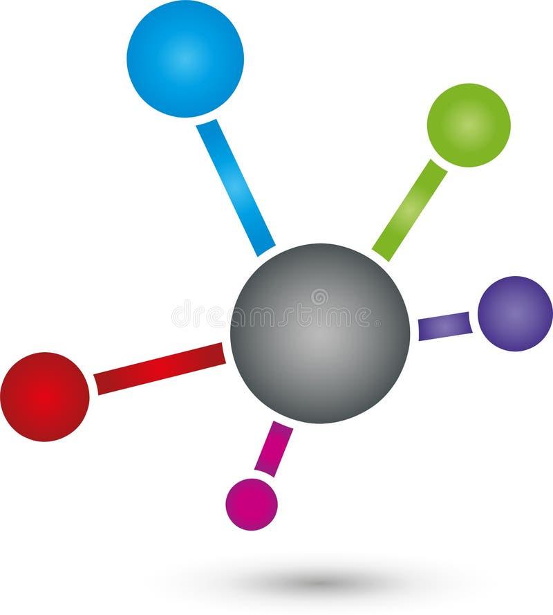 Wiele piłka wpólnie, sieci i interneta, logo, ikona ilustracja wektor