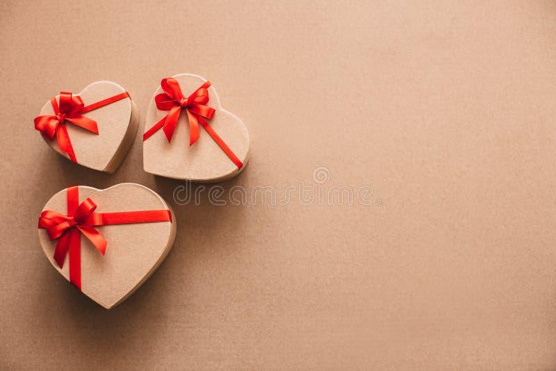 Wiele prezentów serca Miłość zdjęcie stock