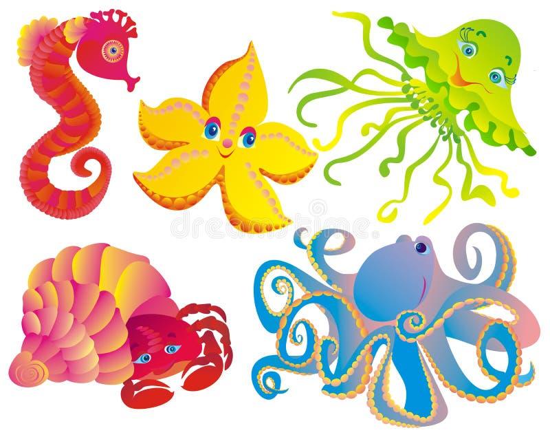 wiele różni ssaki morze royalty ilustracja