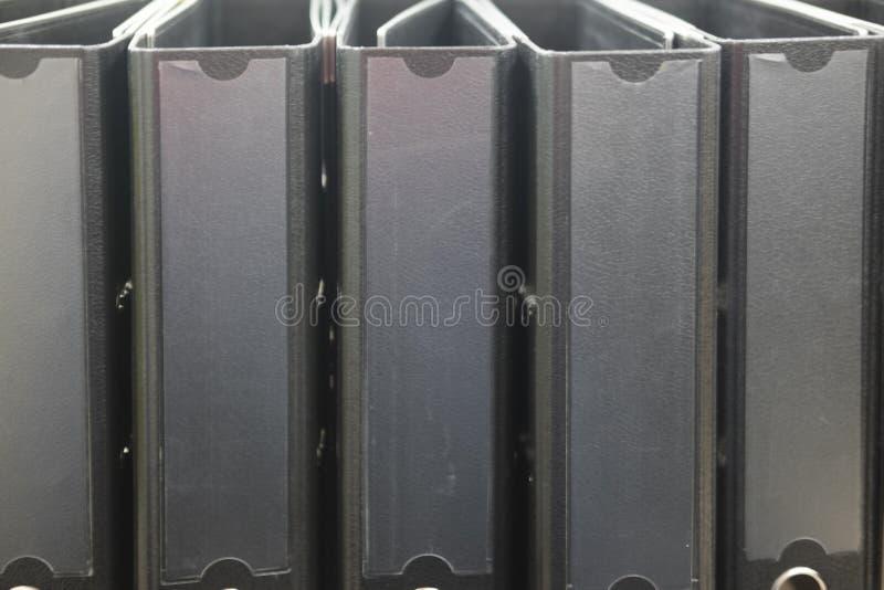 Wiele segregator falcówki na półce zdjęcie royalty free